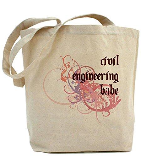 CafePress–ingegneria civile Babe–Borsa di tela naturale, panno borsa per la spesa