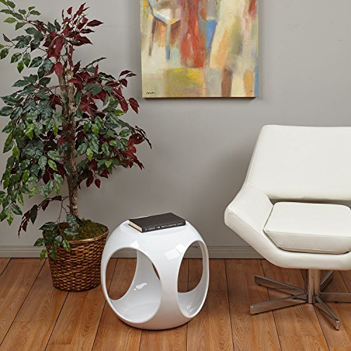 Avenue Six Slick Cube Occasional Table - White - Slick Cube Occasional Table
