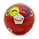 Picador Cute Cartoon Design Soccer Ball for Kids (Red Naughy Monkey)