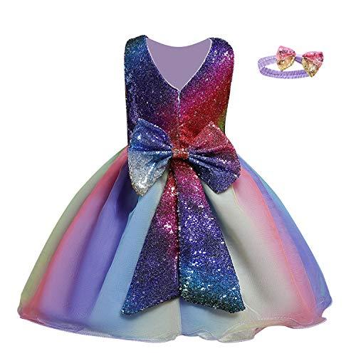TTYAOVO Prinsessenjurk voor baby's, bruiloft, doop, tutu, voor meisjes