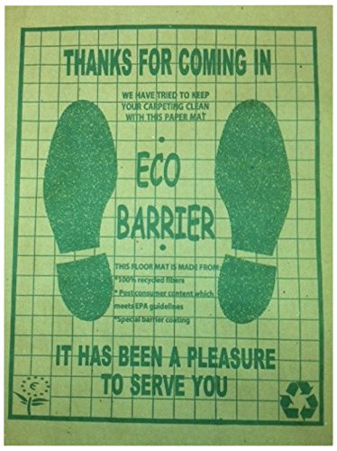 Automotive Interior Protection 20-008-500PK Floor-Mate Eco-Barrier Recycled Paper Mat, (Case of 500)