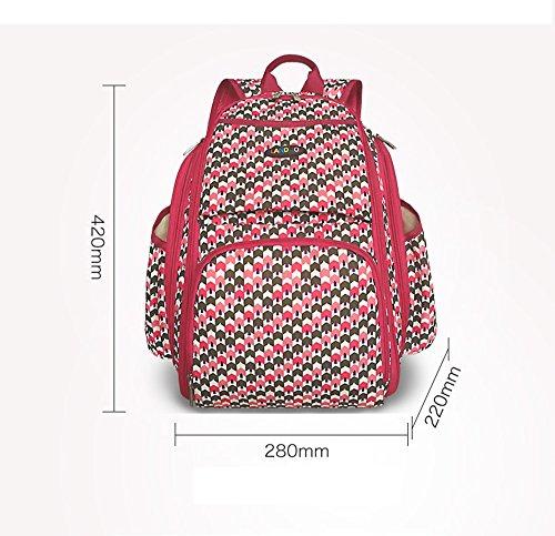 Bolso de la momia, bolso estéreo multi-function 3D, bolso multi-functional de la momia, bolso del bebé de la madre ( Color : Marrón ) Marrón
