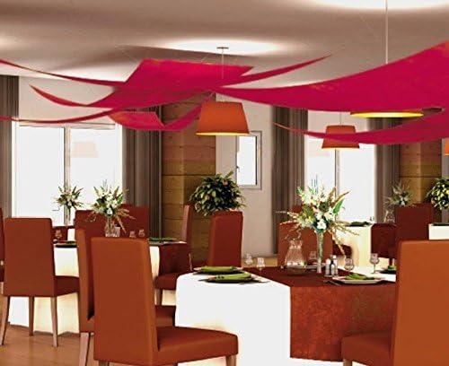 Chaks C350036 Set 3 tentures de plafond Voile triangle BORDEAUX