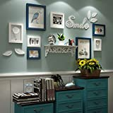 Photo Wall, Bird Wall Sticker Frame Combination, Small Wall Solid Wood Photo Wall, Frame Wall, Living Room Wall ( Color : 2# )