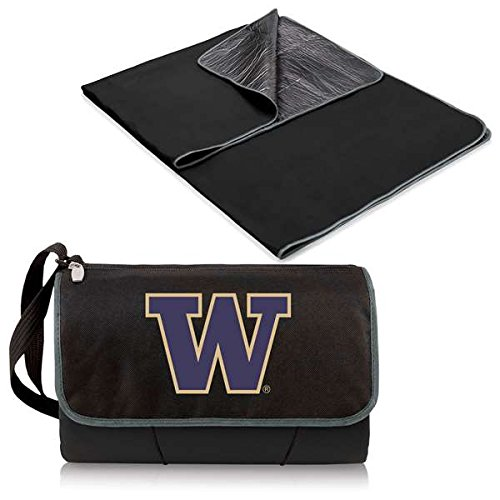 NCAA Washington Huskies Outdoor Picnic Blanket Tote, Black ()