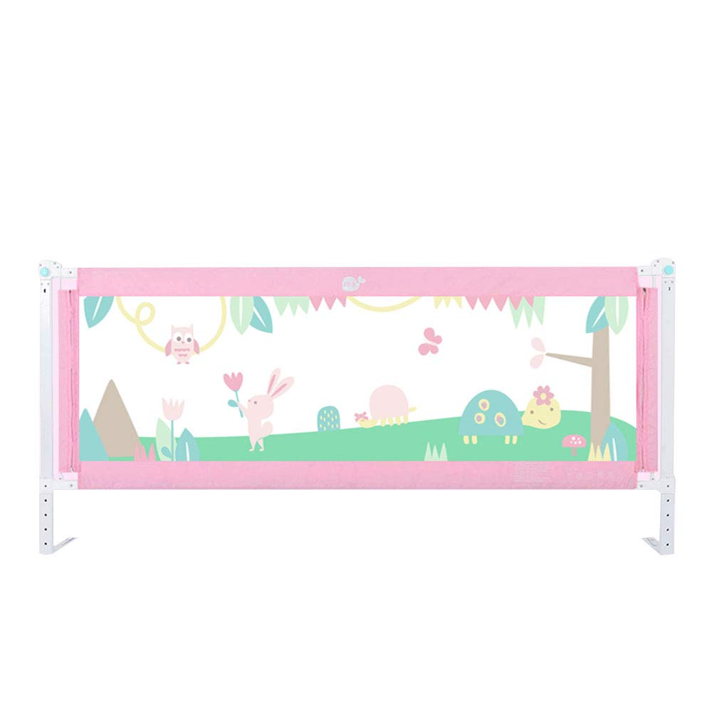 ZR- ベッドフェンス、倒立防止柵、子供ベッドフェンス大きなベッドバッフル (色 : Pink-a-180cm)  Pink-a-180cm B07LDXW8ML