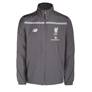 Liverpool FC Nuevo Equilibrio para hombre Liverpool FC chaqueta de lluvia gris tallas S, M