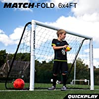 QuickPlay PRO Match-Fold Portable Soccer Goal Range with...