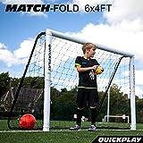 Cheap QuickPlay Match-Fold Soccer Goal (6×4′) with 2YR Warranty