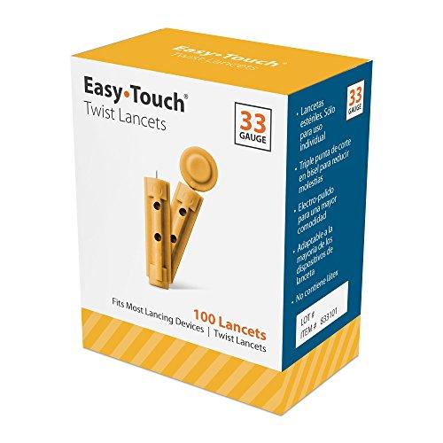 EasyTouch Twist Lancets - 33 G, (100 per box)