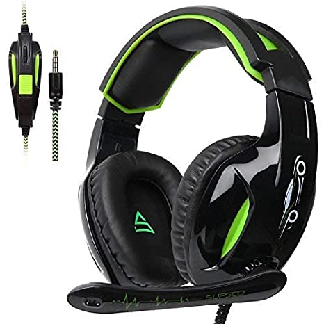 0ba13976f3f SUPSOO G813 Xbox One Headset PS4 Gaming Headset Gaming Over Ear Headphones  with Xbox one Mic