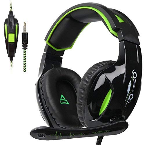 SUPSOO G813 Xbox One Headset PS4 Gaming Headset Gaming Over Ear Headphones with Xbox one Mic LED Lights Noise-canceling Microphone for PS4, PS4 PRO, Xbox One, Xbox One S,Laptop Mac Tablet (Best New Xbox One Games Coming Out)