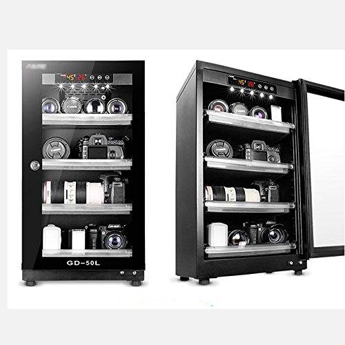 50L 3 Shelf Digital Dehumidify Dry Cabinet Box Lens Camera Equipment Storage by Techtongda