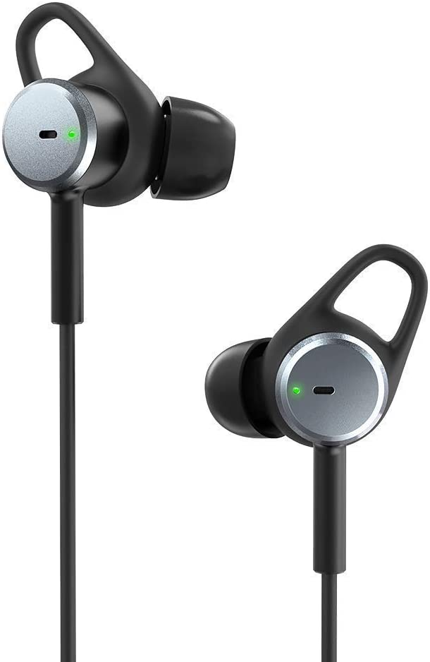 Active Noise Cancelling Headphones, TaoTroics ANC Noise Cancelling Earphones with 15 Hour Playtime Aware Mode, Wired Earbuds with Built-in Microphone Remote, Aware Mode Renewed