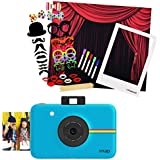Polaroid SNAP Instant Camera (Blue) + Polaroid All-In-One Photo Booth Kit – Includes Backdrop, Fun Photo Props & Polaroid-Styled Frame – Perfect for Parties, Family Affairs & Corporate Events
