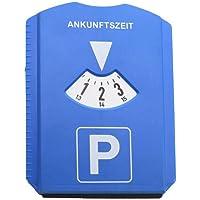 seasaleshop Parkeerschijf, parkeerklok, auto met winkelwagenchip, parkeerschijf met ijskrabber, kunststof, blauw