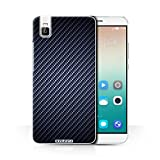 STUFF4 Phone Case / Cover for Huawei Honor 7i/ShotX / Blue Design / Carbon Fibre Effect/Pattern Collection