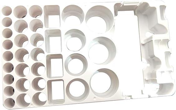 OUNONA - Caja de almacenamiento de batería y comprobador de batería para pilas AAA AA C D 9 V y baterías de tamaño pequeño: Amazon.es: Bricolaje y herramientas