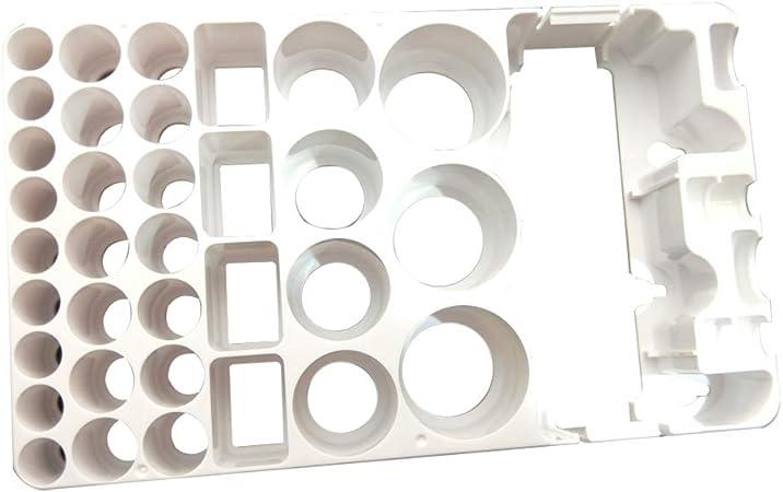 OUNONA - Caja de almacenamiento de batería y comprobador de ...