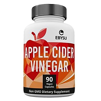 EBYSU Apple Cider Vinegar Capsules - Extra Strength Appetite Suppressant Pills for Weight Loss - Cleanse & Detox Diet Supplement for Men and Women - ACV