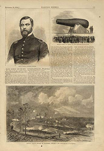 HARPER'S WEEKLY page 11/19 1864 Maj Rodman's 20-inch gun; Gen Hood at Allatoona ()