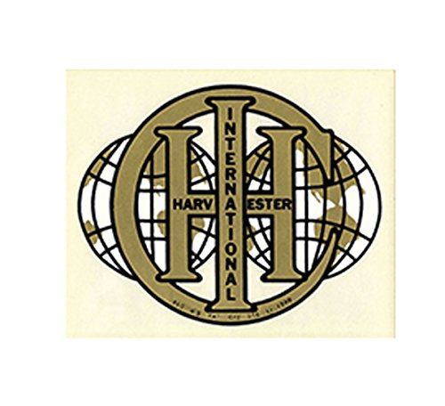 R1318 - International Harvester IH IHC Double Globe Decal - Gold ()