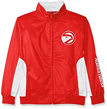NBA Big and Tall Tricot Track Jacket with Logo Wordmark, Unisex-Adult, NBAYINSAM-HA - RED - S, Red, Small
