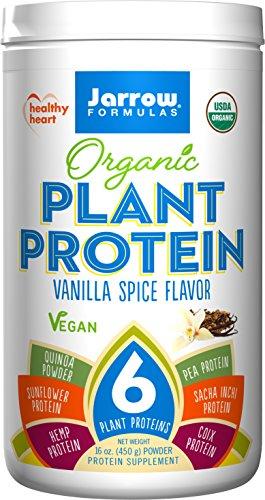 Jarrow Formulas Organic Plant Protein, Vanilla Spice, 16 Ounce