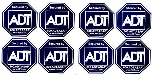 8 - ADT Sticker Decals - Double-Sided Authentic Dark Blue