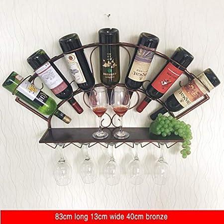 Vinotecas Botellas, Vinotecas Botellas Wall Hanging Botellero, Colgados De La Pared Gabinete Del Vino Copa De Vino En Rack Colgar De La Pared Decoración De La Pared Con Forma De Abanico, Estante De La