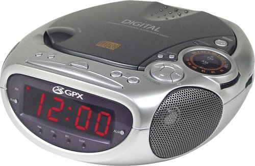 UPC 047323628061, GPX CRCD-2806 Clock Radio and CD Player with AM/FM Radio and Alarm