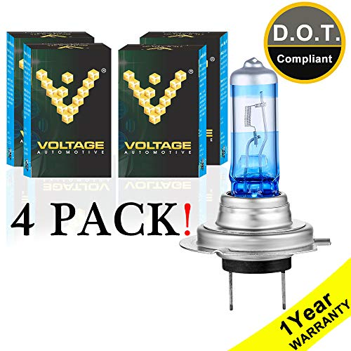 Voltage Automotive H7 Headlight Bulb Night Eagle 40 Percent Brighter Professional Upgrade for Car Motorcycle (4 Pack) - Replacement for High Beam Low Beam Fog - Avant Bulb