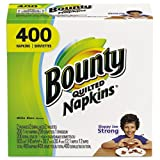 Bounty - Quilted Napkins, 1-Ply, 12.2 x 12, White, 200/Pack, 400/Carton 06356 (DMi CT