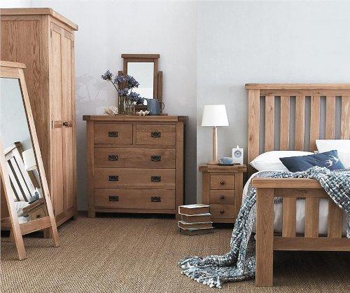 Pembroke Eiche Schlafzimmer Möbel 3Ft Einzelbett 1Nachttisch