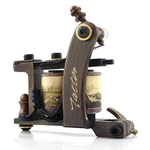 HoriKing Tattoo Supply Handmade Hight Quality Import 12 Warp Coil Tattoo Machine Gun Pure Copper Frame for Shader Supply
