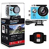 AKASO EK7000 4K Sport Action Camera Ultra HD Camcorder 12MP WiFi Waterproof Camera 170 Degree Wide View Angle 2 Inch LCD Screen W/2.4G Remote Control/2 Rechargeable Batteries/19 Accessories Kits - Blu