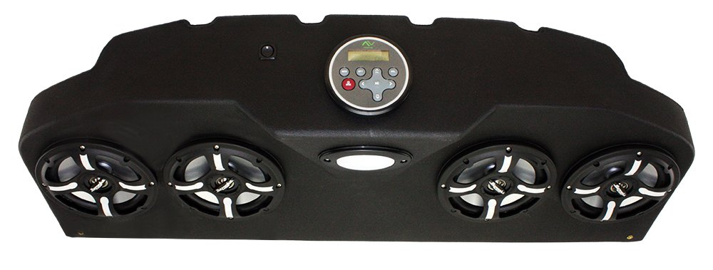 Froghead Industries CCP304LB Four Speaker Bluetooth AM/FM Stereo System With LED Light Bar And RGB LED Speakers