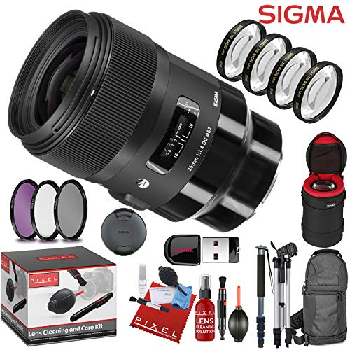 Sigma 35mm f/1.4 DG HSM Art Lens for Sony E with 13 Piece Creative Filter Kit and a Heavy Duty Extra Padded Lens Case