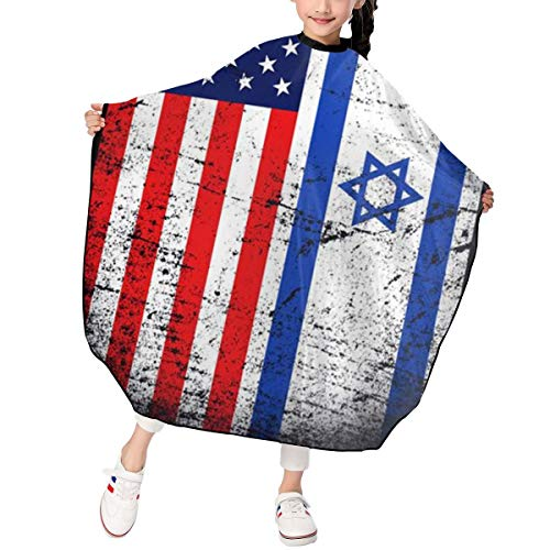 Children Barber Cape for Kid Haircut Umbrella Hair Catcher Kids Hair Styling Cutting Cape Apron Israeli American Flag