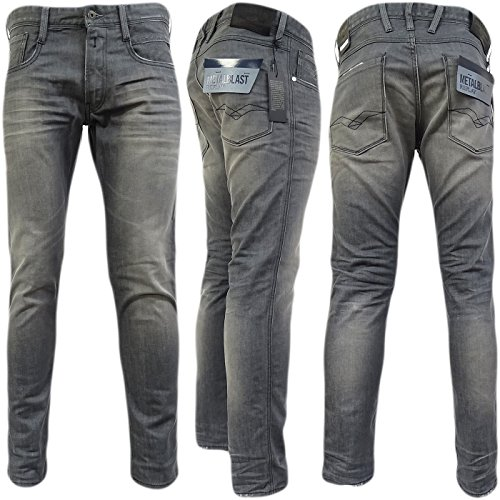 Replay Grey Anbass Slim Fit Grey - M914-21C-166-009 'Anbass' 34/32 by Replay