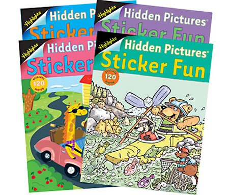 Highlights Sticker Fun Book - 4 book set - Highlights Set