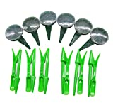 W Fashion shop Garden Tool,Small Seed Sower Sow Gardening Tools Adjustable Size Seeder and Plastic Hole Puncher(Set of 6)