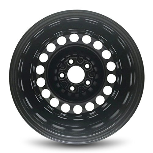 Full-Size Spare Road Ready Car Wheel For 2004-2008 Chevrolet Malibu 15x6.5 Inch 5 Lug Black Steel Rim Fits R15 Tire Exact OEM Replacement