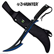 "24"" TACTICAL SURVIVAL Fixed Blade ZOMBIE MACHETE Hunting Sword Full Tang Knife"