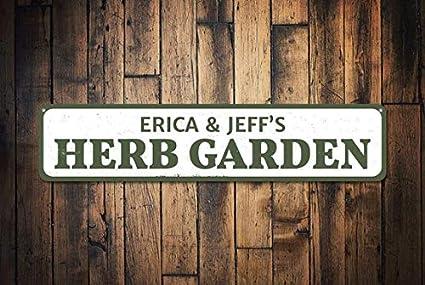 Beau Herb Garden Sign, Personalized Gardener Names Sign, Custom Family Garden  Sign, Metal Patio