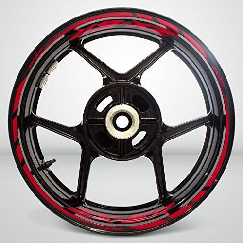Kawasaki Zx6r Reflective Red Motorcycle Rim Wheel Decal Accessory