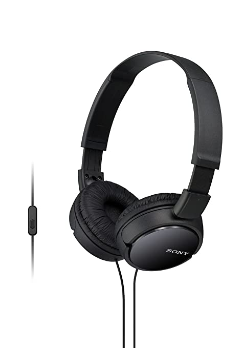 fb8e9652d85 Amazon.com: Sony MDRZX110AP ZX Series Extra Bass Smartphone Headset with  Mic (Black): Home Audio & Theater