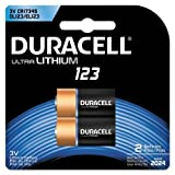 Duracell - 123 3V Lithium Photo Size Battery - long lasting battery - 2 count