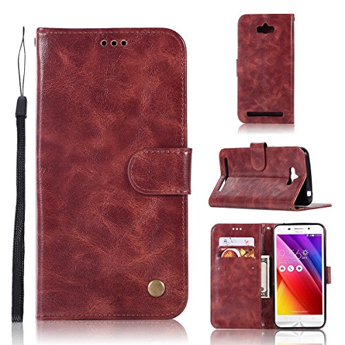 Wallet Flip Leather Case Cover For Asus Zenfone Max ZC550KL (Red) - 6