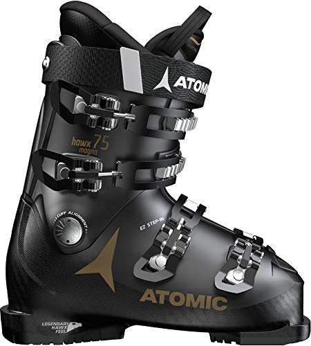 (Atomic HAWX Magna 75 W Womens Ski Boots 2020-24.5/Black-Gold)